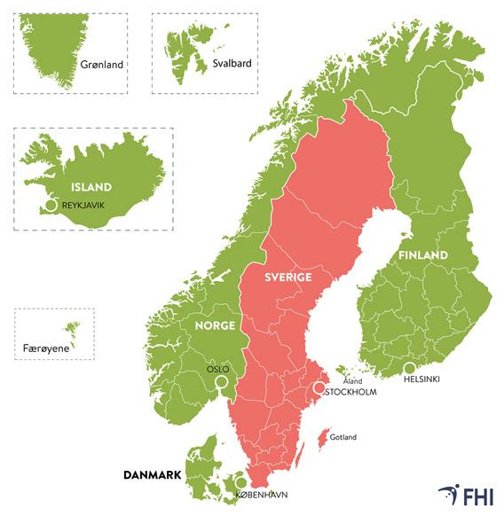 Corona-Karte Skandinavien