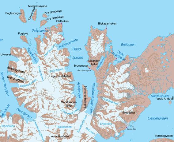 Karte Raudfjord