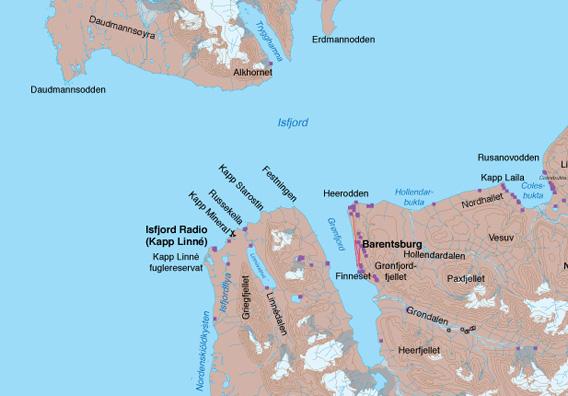 Karte Kapp Linne