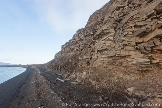 Sediment layers, lower Tertiary, Finneset