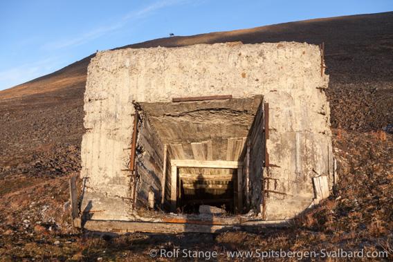 Mine entrance/ventilation shaft, Barentsburg