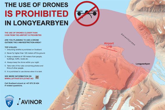 Drones in Spitsbergen: rules and no flight zone Longyearbyen