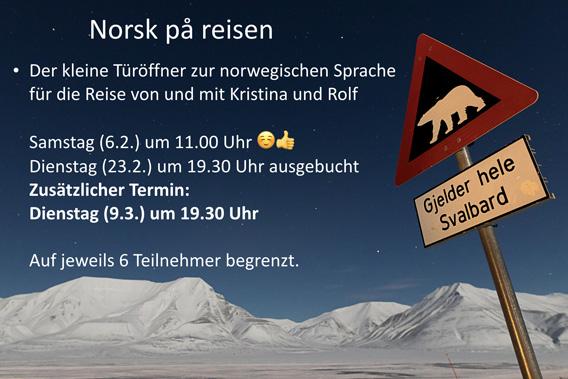 Norsk på reisen: 90 Minuten Norwegisch-Schnupperkurs