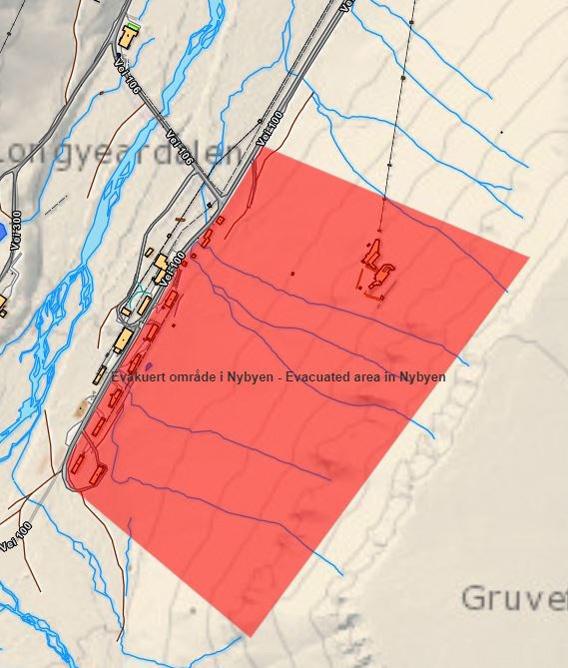 Skredfare: ferdselsforbud i Nybyen