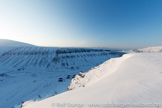 Gruvefjellet ovenfor Nybyen: avalanche risk