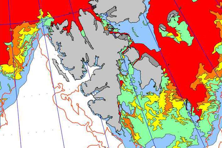 Spitzbergen Eiskarte