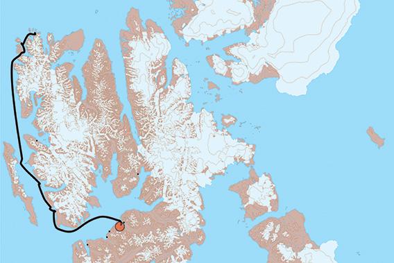 SV Antigua, Svalbard 2021: Kart 1