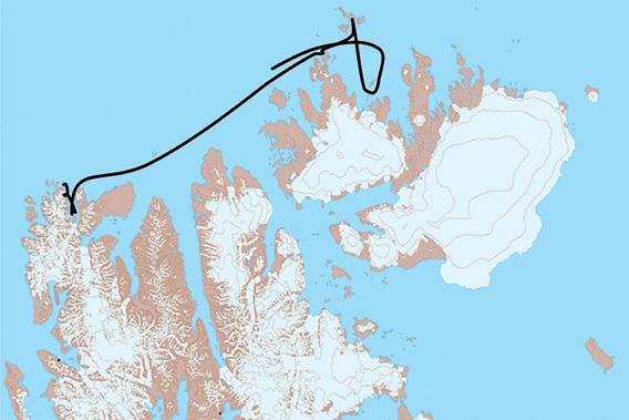 SV Antigua, Spitzbergen 2021: Karte 3