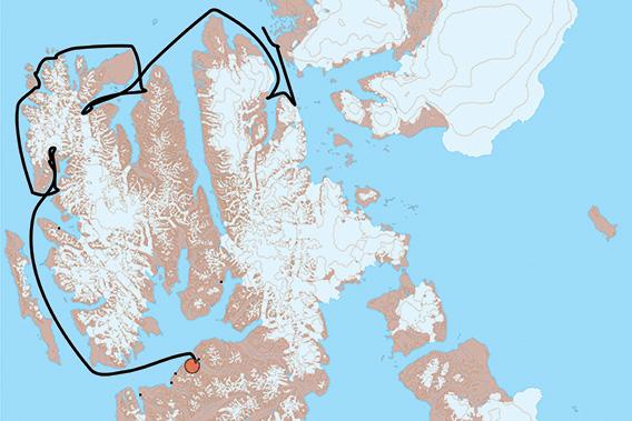 SV Antigua, Spitzbergen 2021: Karte 1