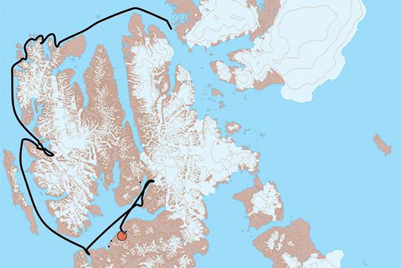 SV Antigua, Spitzbergen 2021: Karte 2