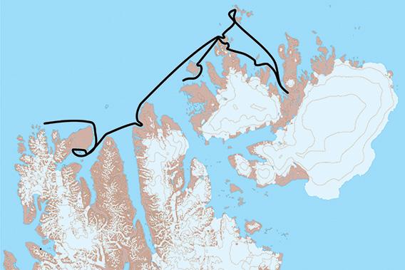 SY Arctica II, Spitsbergen 2021: Map 2